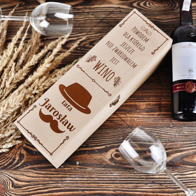 pudełko na wino - Prezent na dzień Ojca
