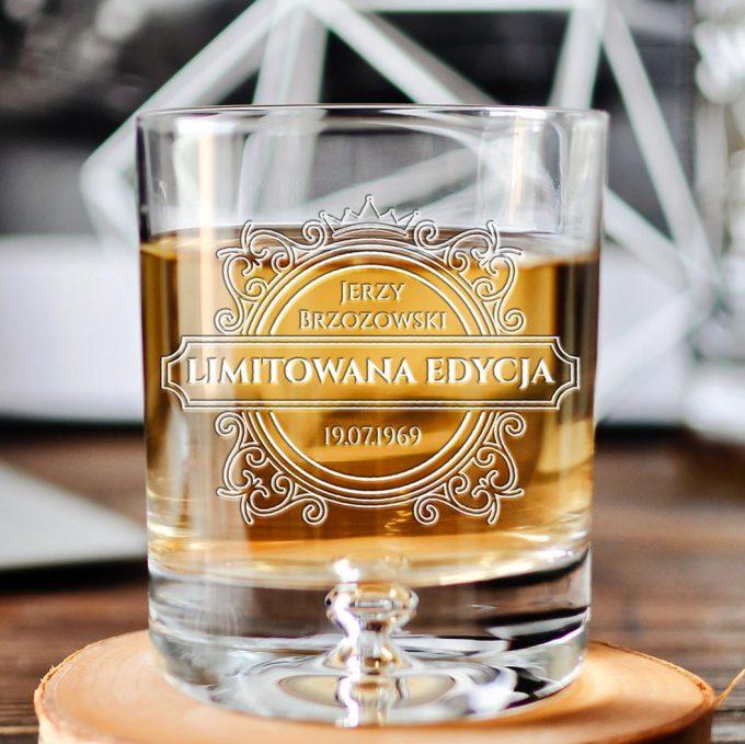 Personalizowana szklanka do whisky - Limitowana edycja