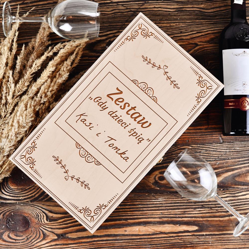 Personalizowane pudełko na 2 wina - Gdy dzieci śpią