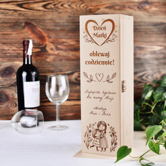 pudełko na wino - Dzień Matki