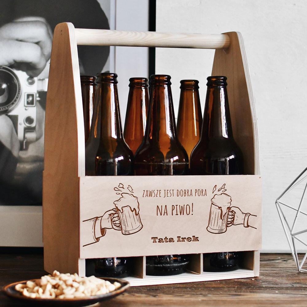 Personalizowane nosidło na piwo - Zawsze jest dobra pora na piwo! Tato