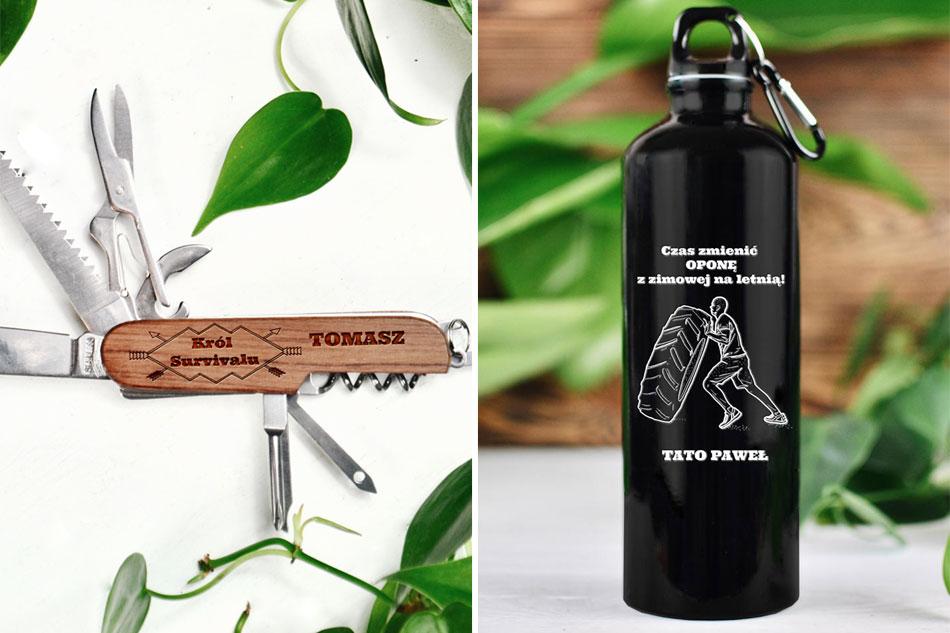 jaki prezent na Dzień Ojca, personalizowany scyzoryk, bidon z grawerem