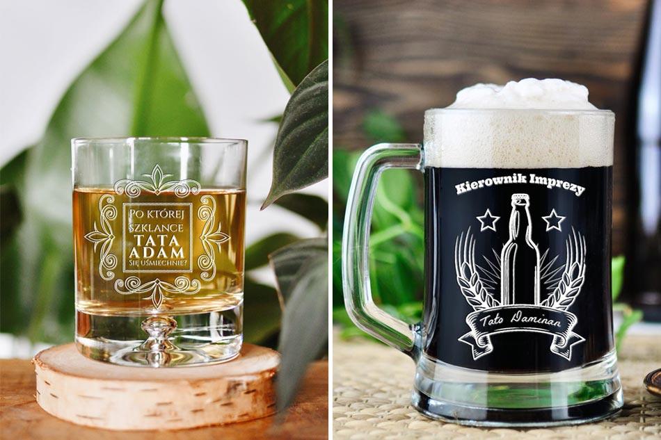 jaki prezent na dzień ojca, kufel na dzień ojca, szklanka do whisky
