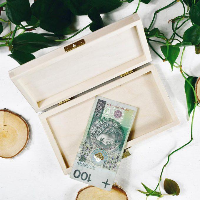 Personalizowane pudełko na pieniądze