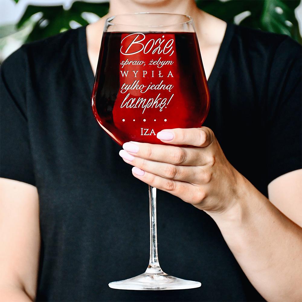 Kieliszek do wina – Boże, spraw, żebym wypiła tylko jedną lampkę