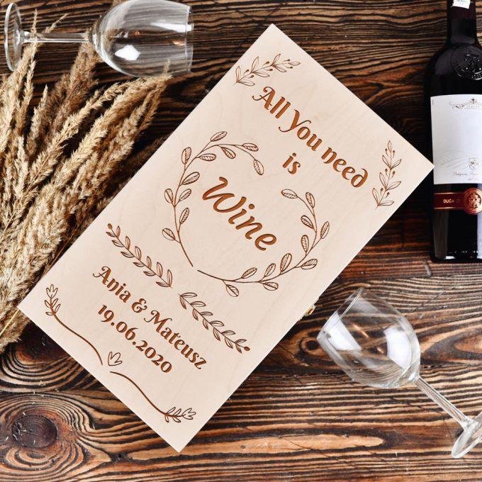 Personalizowane pudełko na wino