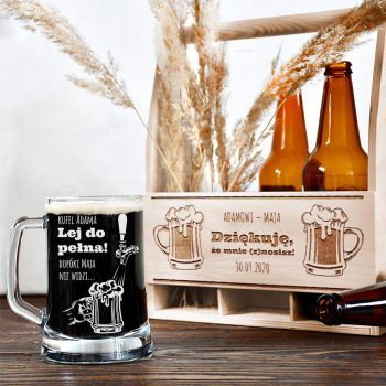 Grawerowany kufel na piwo