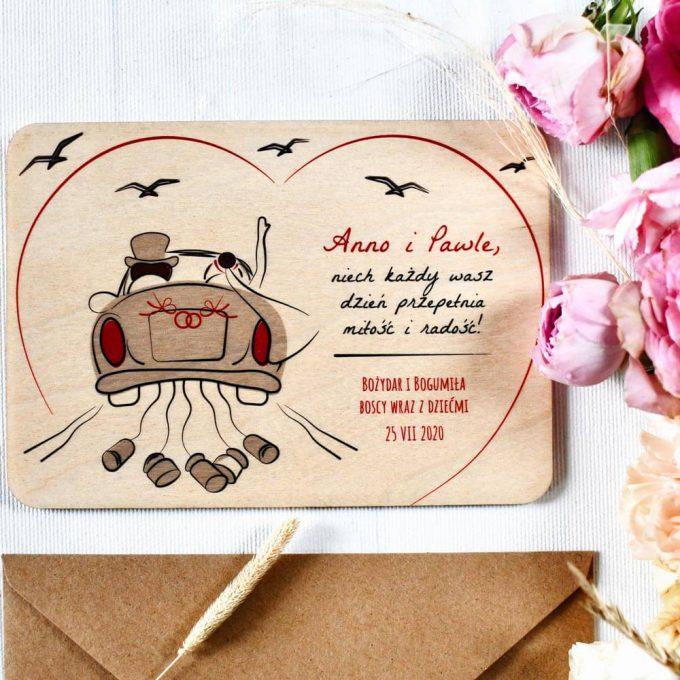 Personalizowana kartka na ślub