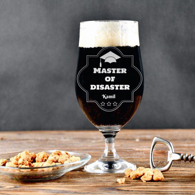 Grawerowana szklanka do piwa